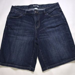 St John's Bay Denim Shorts Womens Size 12 Blue